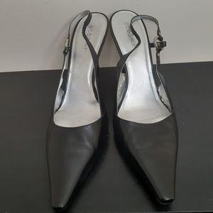 BCBG Black Vegan Leather Heel Shoes